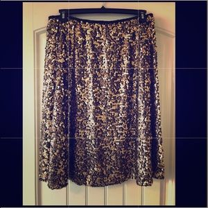 Two sequin circle skirts